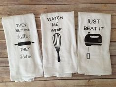 A personal favorite from my Etsy shop https://www.etsy.com/listing/258638043/set-of-3-custom-song-lyric-tea-towels