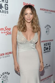 Katharine McPhee Photos Photos - Singer Katharine McPhee onstage during the Sixth Annual American Humane Association Hero Dog Awards at The Beverly Hilton Hotel on September 10, 2016 in Beverly Hills, California. - Sixth Annual American Humane Association Hero Dog Awards - Arrivals
