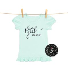 Items similar to Flower Girl {with First Name} Tee for Little Girls /// Flower Shirt, Petal Shirt, Wedding Shirt Wedding Shirts, Flower Shirt, First Names, Little Girls, T Shirts For Women, Crop Tops, Trending Outfits, Wedding Bride, Tees