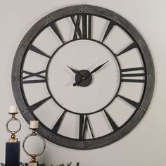 Declan' Aged Copper and Black Wall Clock - Overstock Shopping ...