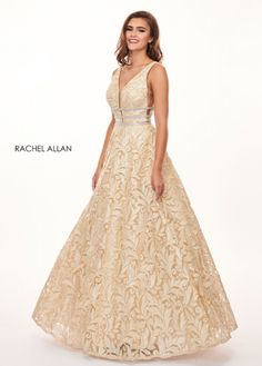 15d3cefa1b5 Style - 6443 in Gold Color Rachel Allan Gold Prom Dress  www.bellasalabama.com