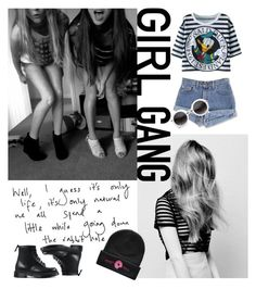 """""""Girl gang"""" by sylebyclara ❤ liked on Polyvore featuring Dr. Martens"""