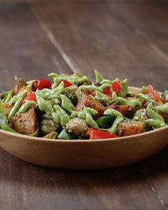 Roasted Veggie Salad With Avocado Dressing. Delicious!!!