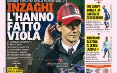RASSEGNA STAMPA   Pippo KO, i viola la rimontano. Lazio gode doppio: show a Torino e crollo Roma con la Samp #lazio #milan #roma #seriea #calcio