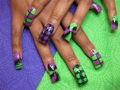 purple and green designs by Oli123 - Nail Art Gallery nailartgallery.nailsmag.com by Nails Magazine www.nailsmag.com #nailart