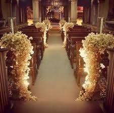 Resultado de imagen para como hacer adornos bancos iglesia boda