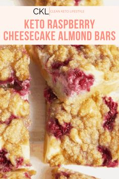 These Keto Raspberry Cheesecake Bars are going to be your new favorite keto dessert! They are a keto, low-carb, grain-free, gluten-free treat made to share with family and friends. Healthy Cake Recipes, Keto Recipes, Dessert Recipes, Cooking Recipes, No Cook Desserts, Health Desserts, Health Foods, Raspberry Cheesecake Bars, British Desserts