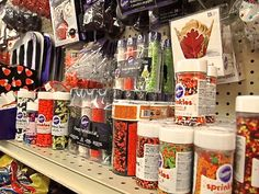 Cupcake and cookie decorations and supplies.