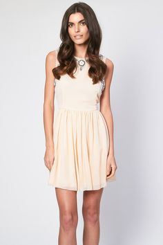 Lace & Beads Dress <br /> <br /> - Embellished top detail <br /> - Floaty Skater skirt<br /> - Zip on reverse<br /> <br /> Material: Outer fabric: Polyester, Lining: Polyester<br /> <br /> Care: Hand Wash Only Sequin Dress, Pink Dress, White Dress, Tfnc, Embellished Top, Beaded Lace, Spring Collection, Short Skirts, Day Dresses