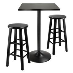 {Quick and Easy Gift Ideas from the USA}  Winsome Obsidian 3-Piece Pub Table Set http://welikedthis.com/winsome-obsidian-3-piece-pub-table-set #gifts #giftideas #welikedthisusa