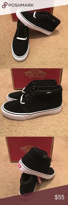 Vans Chukka Boot New in box. Black/white Vans Shoes