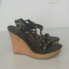 Jessica Simpson wedge shoes Black/ cork wedge shoe Jessica Simpson Shoes Wedges