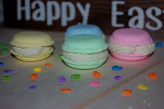 Macaron Bath Bombs and Soaps - French Macaroon Bath Bomb -  Spring Soap - Party Favors - Gift for Kids - Easter Bath Bombs - Easter Soap by TheBumbleBe on Etsy
