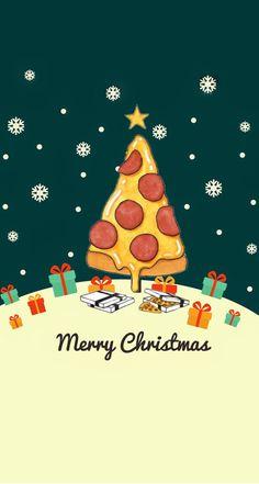 Christmas Pizza, Merry Christmas, Christmas Mood, Holiday Fun, Pizza Sign, Pizza Meme, Pizza Art, Domino's Pizza, Pizza Kunst