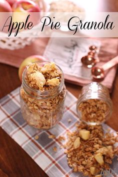Who doesn't love Apple Pie? Here we have an apple pie spiced Apple Pie Granola made with real apples! Ready in 30 minutes! The perfect snack or breakfast.   www.zagleft.com: