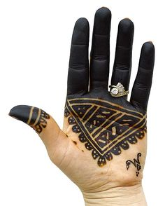 appears to be natural henna that has been darkened (unsafely) with ammonia