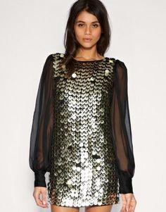 Фото платье с пайетками