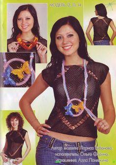 Трикотажные Вязание крючком - кофточка великолепие крючком - кофточка для элегантных лета вязание крючком