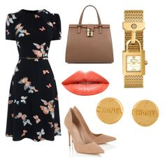 """""""Black & Nude"""" by memowitta on Polyvore featuring Dolce&Gabbana, Lipsy, Ardency Inn, Chanel and Tory Burch"""
