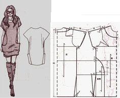 Vestido casual bolsillos a los costados con patrones | ManualidadesYa Paso a Paso faciles