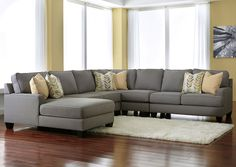Carrolls Furniture - Pensacola, FL Chamberly Alloy Left Arm Facing Chaise End Extended Sectional