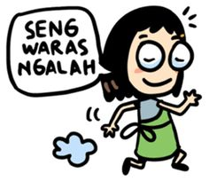 cewek jowo ( indonesia ) - Stiker LINE | LINE STORE Memes Funny Faces, Funny Quotes, Quotes Lucu, Islamic Cartoon, Anime Muslim, Reminder Quotes, Cute Doodles, Art Memes, Thing 1