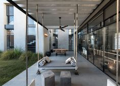 """archatlas: """"Tel Aviv Suberbe Residence Neuman Hayner Architects The house was planned for a family of four. Two cubes separated by a passage combine into an """"L"""" shaped house. The front cube, of double."""