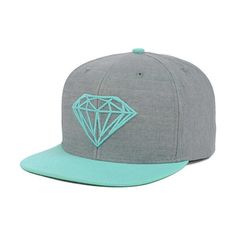 Diamond Brilliant Snapback Cap (2,855 INR) ❤ liked on Polyvore featuring accessories, hats, beanie, snap back hats, snapback hats, beanie cap, caps hats and cap snapback