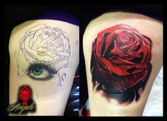 Rose tattoo cover up done by Angelo @ Rising Dragon tattoo, Fourways view, Johannesburg.  joburgink@gmail.com, 0114677350