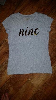 Nine Birthday Shirt. Silhouette Cameo HTV Craft Project