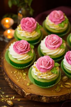 Pistachio Cupcakes | Cooking Classy  ** Hello Pinners and Followers :)) can I share with you some yummy cupcakes :)))))))