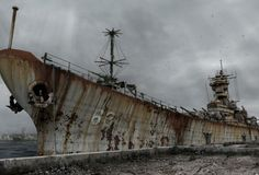 She was home to thousands of Navy men in wartime and peace.....this is her fate.