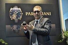 Mr. Pistillo with the most expensive watches at the fair - Bugatti Super Sport