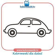 Samochód numer cztery - Kolorowanki samochody | Kolorowanki
