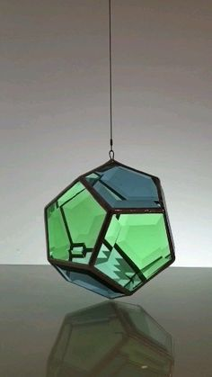 Geometric Glass Artwork and Glass Pendant Lighting Glass Pendant Light, Glass Pendants, Pendant Lamp, Stained Glass Lamps, Stained Glass Patterns, Glass Rocks, Glass Art, Light Art Installation, Wall Clock Design