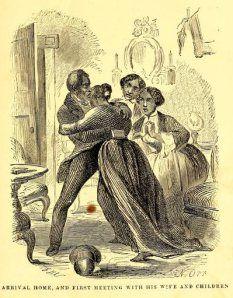Solomon Northup - Twelve Years a slave (1853), la llegada a casa, reencuentro de Solomon Northup con su mujer y sus hijos