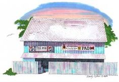The Pad at NMB Beach Music, Ocean Drive, Myrtle, Buildings, Bands, Art Prints, History, Country, Sweet