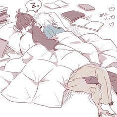 Image via We Heart It #anime #art #bl #books #BoysLove #couple #cute #japanese #kawaii #manga #sleeping #truelove #boyxboy #shounen-ai #shonen-ai #no.6 #nezumixshion #nezushi #himesama