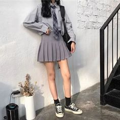 Doing a small research! single pringle - comment 1 taken bacon - comment 2 married - comment 3 unable to forget your ex - comment 4 Btw… Korean Fashion Trends, Asian Fashion, Girl Outfits, Cute Outfits, Fashion Outfits, Cute Fashion, Girl Fashion, School Uniform Outfits, School Uniforms
