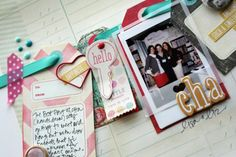 Love the vellum polaroid frame. Stephanie Howell scrapbooking