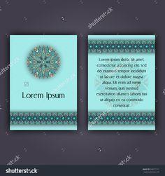 Invitation Card Design Template. Vintage Decorative Elements With Mandala, Delicate Floral Pattern. Islam, Arabic, Indian, Ottoman, Aztec Motifs Стоковое векторное изображение 548771311 : Shutterstock