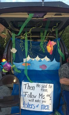 Kids activities Christian trunk or treat fishers of men Should You Choose A Window Awning? Halloween Car Decorations, Halloween Themes, Trunk Or Treat, Holidays Halloween, Halloween Fun, Fall Festival Games, Fall Festivals, Christian Halloween, Fall Carnival