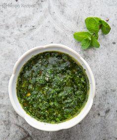 Mint Chimichurri on Simply Recipes