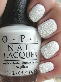 OPI White Fairy Special Nail Art Manicure