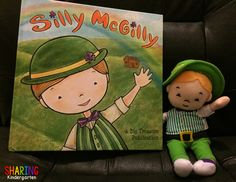 Have you guys met my friend, Silly McGilly?  Silly McGilly is an adorable leprechaun who comes to visit your house or school…  to play small tricks at night. He doesn't have to play naught trick,  but he LOVES to do small SILLY things… like leaving cabinet drawers open or coloring the milk green. And he …