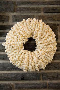 popcorn wreath...if you did a popcorn bar