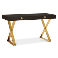 Luxe Lacquer.Neo-Classical lines, a dash of Hollywood glamour, and a top note of Mod moxie: that's our Channing Collection. The Channing Desk puts a svelte