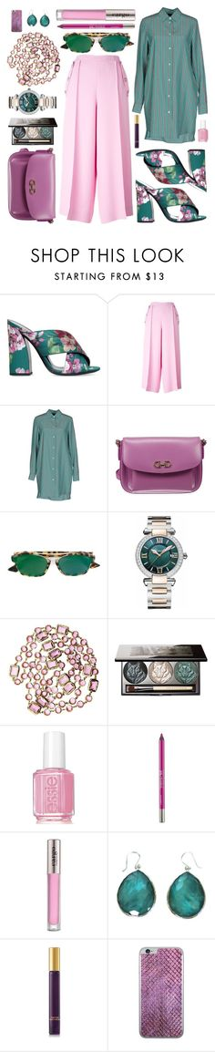 """""""Pink and Green"""" by maxfield ❤ liked on Polyvore featuring Gucci, Emilio Pucci, Aspesi, Salvatore Ferragamo, Christian Dior, Chopard, Chanel, Chantecaille, Essie and Urban Decay"""