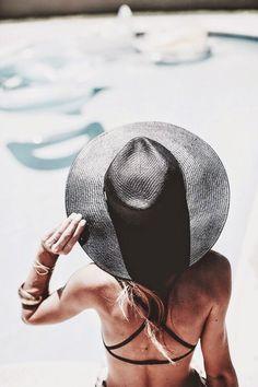 Beach Hat + Criss Cross Bikini