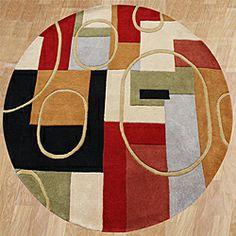 Handmade Metro Classic Multicolor Wool Area Rug (6' Round)